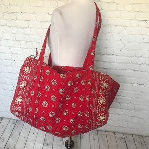 Vera Bradley extra large duffel bag Red Bandana